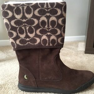MEMORIAL WKND SALE Coach Suede Brown Boots